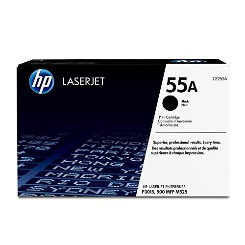 HP 55A (CE255A) Black Toner Cartridge for HP LaserJet Enterprise 525 P3015 HP LaserJet Pro M521 (120 Black Toner Cartridge)