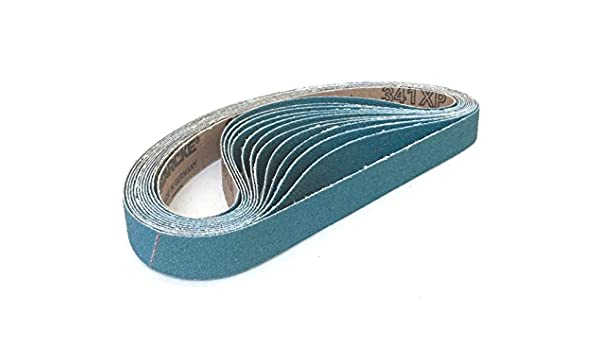 48 Pack, 80 Grit 3//4 X 20-1//2 Zirconia Cloth Narrow Sander Belts