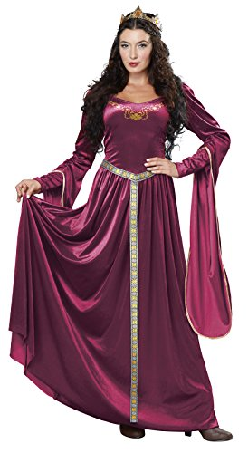 California Costumes Women's Lady Guinevere, Berry, Large (Ladies Renaissance Shoes)