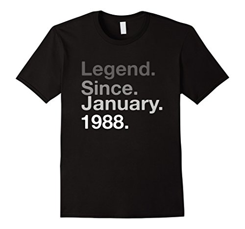 Mens Legend Since January 1988 Shirt - 30th Birthday Gift Shirt Medium Black Gift For Men 30th Birthday