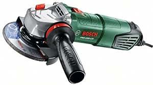 Bosch Amoladora PWS 1000-125, empuñadura antivibraciones, maletín (1000 W, velocidad de giro en vacío: 11.000 min-1, Ø del diso lijador: 125 mm)