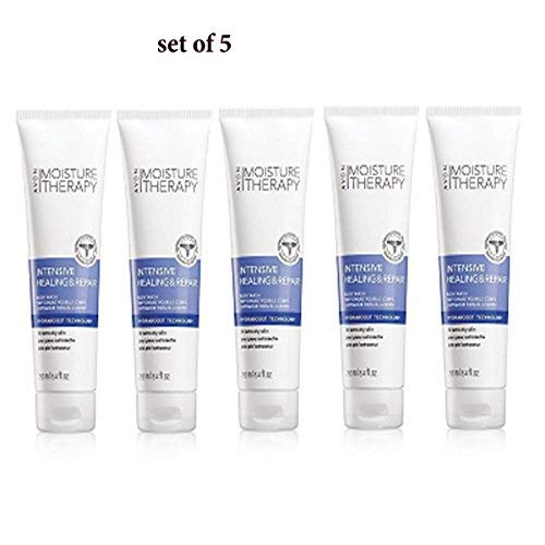 Avon Lot of 5 Moisture Therapy Intensive Healing and Repair Body Wash For Extra Dry Skin ()