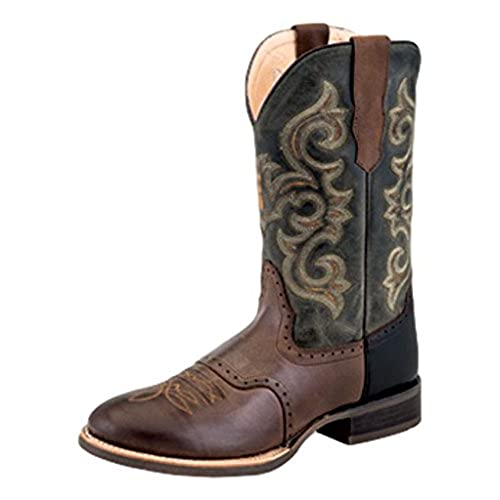 1f4db80e951 outlet Old West Cowboy Boots Mens Broad Round Rubber 11 EE Choc ...