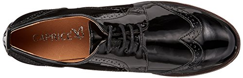 Nero Donna Caprice Patent Stringate 18 Oxford Scarpe 23200 Black qq7XI