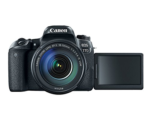 Canon EOS 77D 24.2MP Digital SLR Camera + EF-S 18-135 mm 3.5-5.6 is USM Lens with 16 GB Card Inside and Camera Case 5