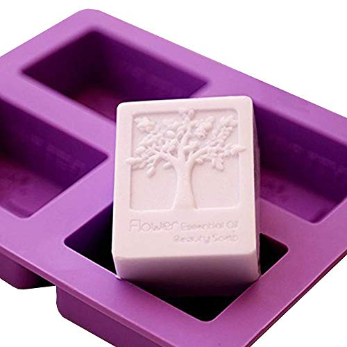 - ESA Supplies 4 Cavities Rectangle Tree of Life Silicone Soap Bar and Resin Mold for DIY Soap Making