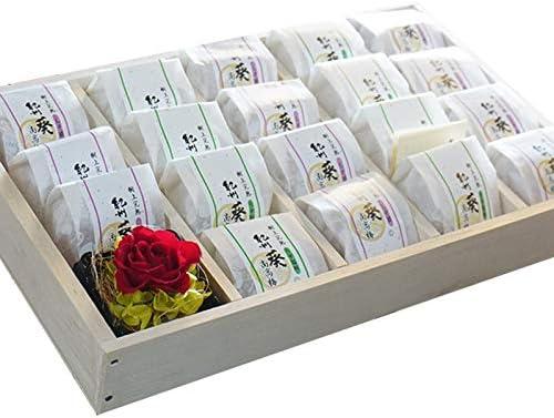 ふみこ農園 紀州葵梅 個包装19粒 国産ブリザーブドフラワー付 木箱入 しそ漬梅19個<11176>