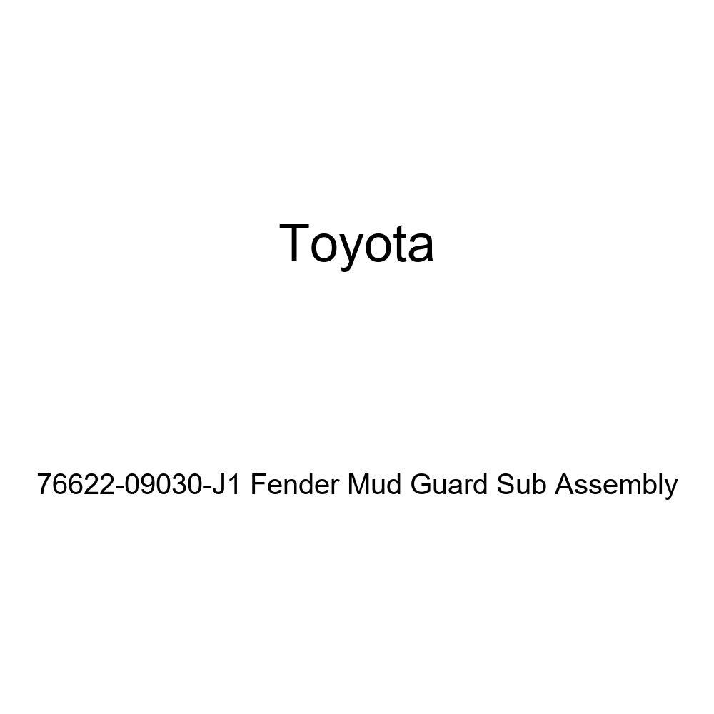TOYOTA Genuine 76622-09030-J1 Fender Mud Guard Sub Assembly