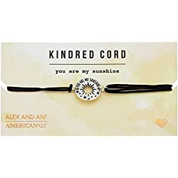 Alex and Ani Kindred Cord You Are My Sunshine Sterling Silver Bracelet