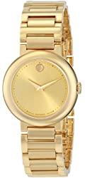 """Movado Women's 0606704 """"Concerto"""" Gold-Plated Watch"""