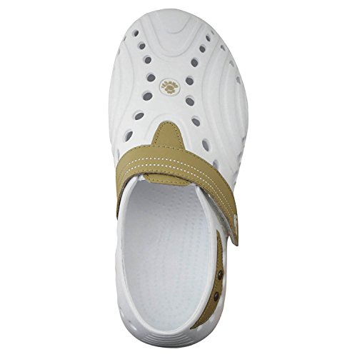 DAWGS Mens Spirit Lightweight Golf Shoe White With Tan 4R5pfMa