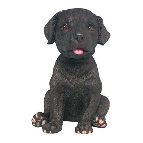Black Labrador Retriever Puppy Dog Bobble Head (Black Labrador Retriever Figurine)