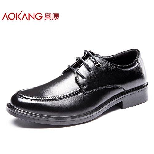 Aemember Scarpe Uomo testa rotonda ufficio è in scarpe comode usura di classe e una scarpa Low-Cut ,41, nero