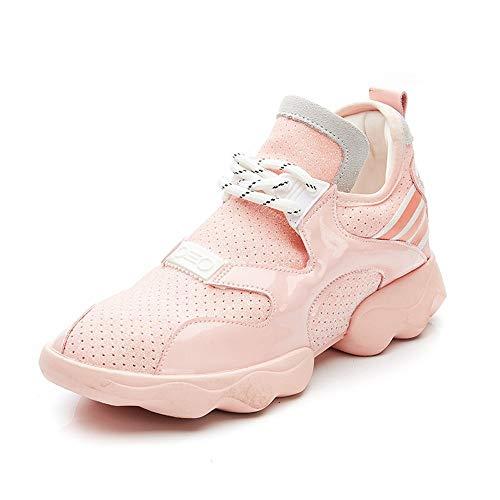 XINGMU Nuevos Zapatos Deportivos Joker Estilo Estilo Malla Transpirable. Rosa