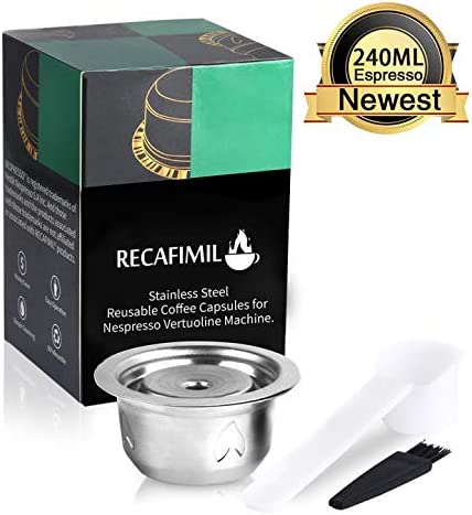 Nespresso c/ápsulas Capsulas Recargables Rellenables Reutilizables para Cafeteras NESPRESSO C/ápsulas Filtros de Caf/é C