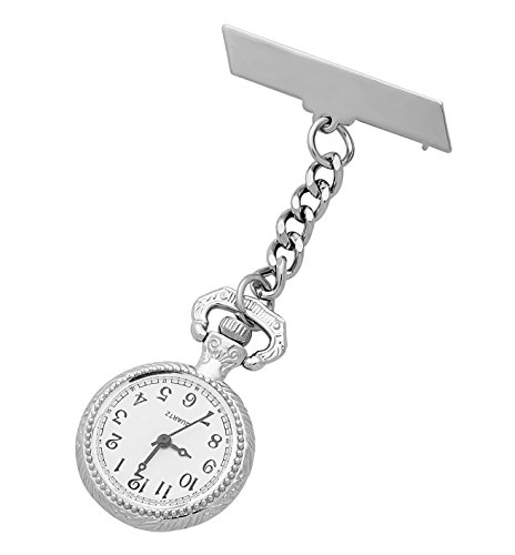 ShoppeWatch Nurses Lapel Pin Watch 24hr Military Time Analog FOB Infection Control Watch NW-238