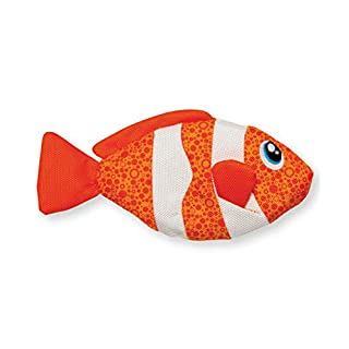 Outward Hound Floatiez Clown Fish Floating Dog Toy for Water Play - Beach and Pool Fetch Games