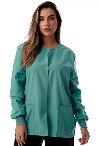 Just Love Womens Solid Medical Scrub Jacket 4501-JADE-M -