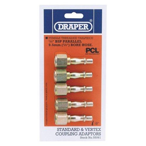 Draper Air Tools 55061 9.5 mm-Bore Standard and Vertex Coupling Adaptors Draper Tools Hand Tools Other Tools
