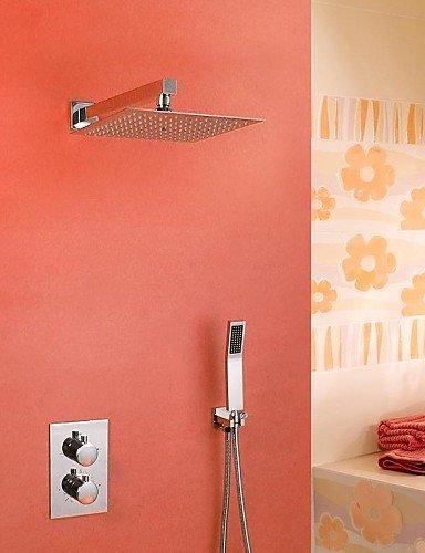 Einhand-Farbwechs?l LED Wasserfa?l Waschbecken Wasserhahn (Tall)-Chrom-Finish