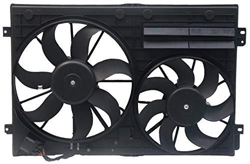 Sunbelt Radiator And Condenser Fan For Volkswagen Passat Audi TT Quattro VW3117106 Drop in Fitment