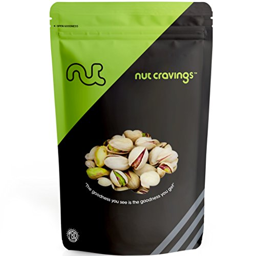 - Nut Cravings - Roasted and Salted California Pistachios (1 Pound) - 16 Ounce