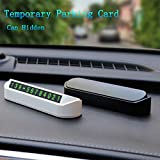 Car Styling Temporary Parking Card Phone Number Card Plate Telephone Number Car Park Stop in Car-Styling Automobile Accessories (Black)