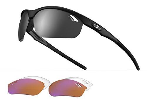 Tifosi Veloce 1040100101 Regular Interchangeable Wrap Sunglasses,Matte Black,150 mm