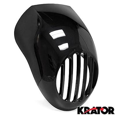 Krator Headlight Fairing Custom Prison Grill Black Cafe Visor Bracket For Harley Davidson Sportster