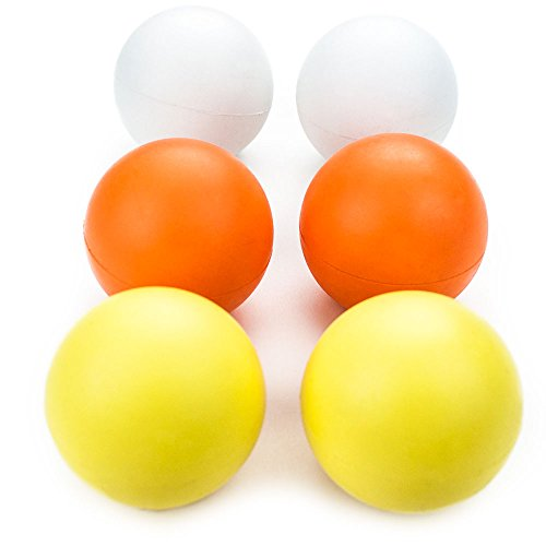 Crown Sporting Goods Multi-Color Regulation Size Lacrosse Balls in Mesh Storage Bag (Set of 6)