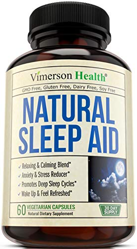 Natural Sleep Aid Pills - with Valerian, Melatonin & Natural Herbs - Premium Quality Sleeping Supplement with Chamomile, Vitamin B6, L-Tryptophan, Ashwagandha, L-Taurine, St. Johns Wort, L-Theanine