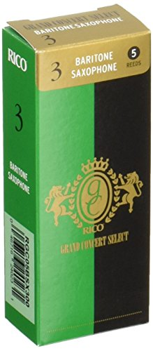 Rico Grand Concert Select Baritone Sax Reeds, Strength 3.0, 5-pack by Rico (Image #2)