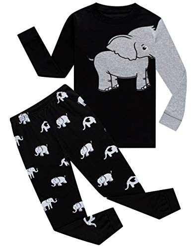 Family Feeling Elephant Baby Boys Long Sleeve Pajamas 100% Cotton Pjs Infant Size 18-24 Mothes (Long Sleeve Pjs Pajamas)