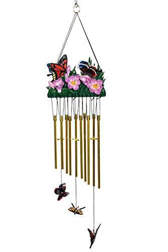 - Cadona International, Inc Monarch Butterflies 24 inch Resin Stone Flat Design Indoor Outdoor Wind Chimes