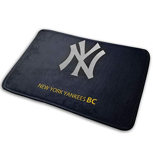 Plotery American Baseball Team New York Yankee Doormat Indoor Non Slip Floor Mats Suitable Entrance Bathroom Bedroom Toilet 15.7 X 23.6 Inches -