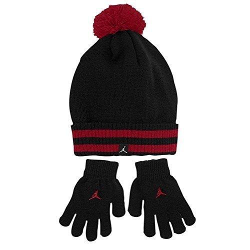 Nike Jordan Boys Winter Cuffed Beanie & Gloves Set Size : 8/20-