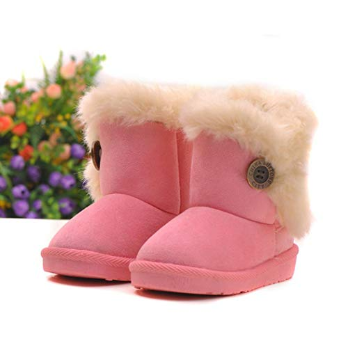 Dongtu Neudas Winter Kids Solid Color Snow Boots Children Thick Keep Warm Snow Boots