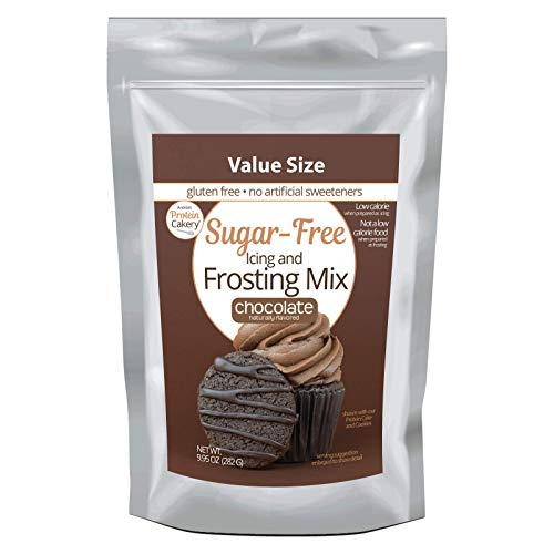 Keto Sugar Free Icing and Frosting Mix - Andrea's Protein Cakery - Low Carb (1 net carb), Diabetic Friendly, Nothing Artificial (Chocolate)