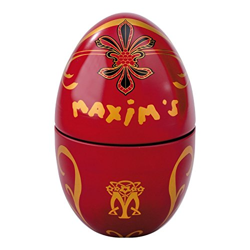 Maxim's de Paris Egg Gift Tin - Milk Chocolates with Pralines (100g) (Red Egg)