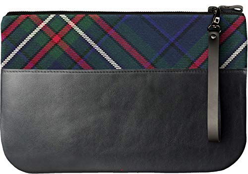 Heritage an iPad Clutch Leather Medium Scottish Tartan with Bag Fits qgOH4cXw