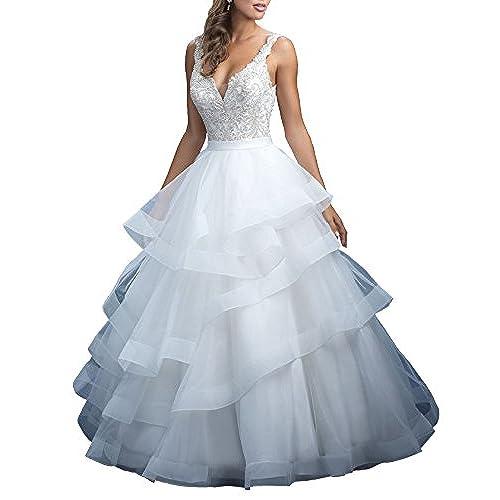 Plus Size Ball Wedding Dress: Amazon.com