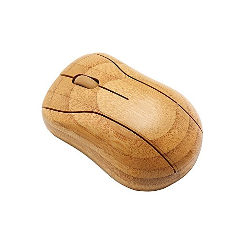 Sengu SG-MG95-N Wireless Optical Bamboo Mouse with USB Receiver for Notebook, PC, Laptop, Computer, Macbook