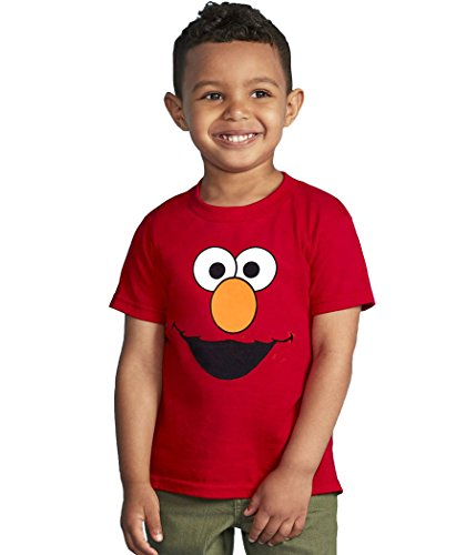 Sesame Street Elmo Face Toddler T-Shirt-2T (Elmo Clothes For Toddlers)
