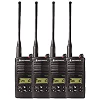 4 Pack of Motorola RDU4160d Two Way Radio Walkie Talkies