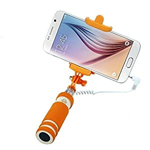 PaxMore Foldable Super Mini Wired Handheld Extendable Selfie Stick for All Smartphones 3