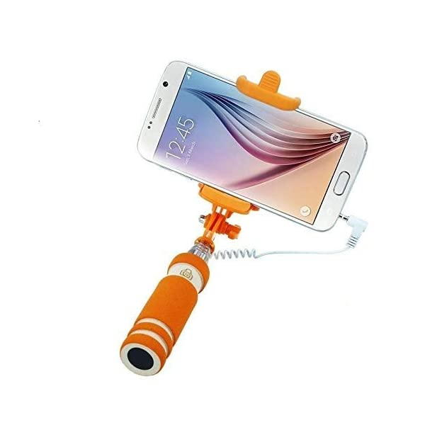 PaxMore Mini Pocket Sized Selfie Stick with AUX Cable for Android/iOS Phones 1