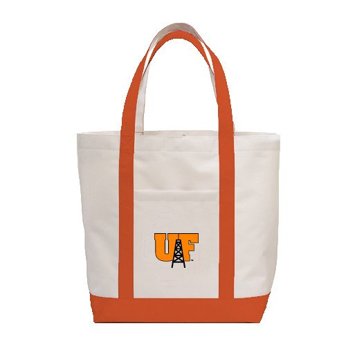 Findlay Contender White/Orange Canvas Tote 'Primary Mark' by CollegeFanGear
