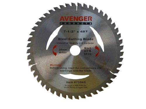 Avenger AV-75948 Steel Cutting Saw Blade, 7.5-inch by 48 ...