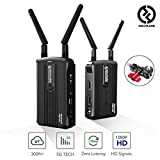 Wireless HDMI Video Transmission System, [Official] Hollyland Mars 300 5G Image Transmitter and Receiver Kit Support HD 1080P 300 Feet for DSLR Mirrorless Camera Gimbal Stabilizer