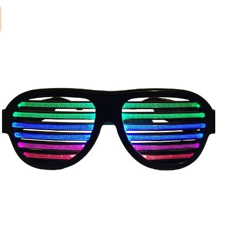 LED musical shades Sound & Music Active LED Party Glasses with USB Charger. Best for Cloubbing, EDM, Rave, Disco, Dubstep - Dubstep Sunglasses